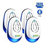 ZERO PEST REPELLER ZEROPEST, 2019 Upgraded 4 Pack Ultrasonic Pest...