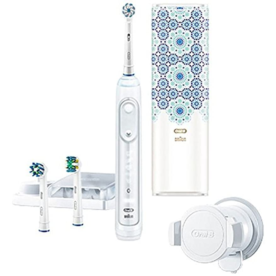 ペグ閉じる然としたブラウン 電動歯ブラシ 「ジーニアス9000」 D7015356XCTMC モロッコデザインパッケージ