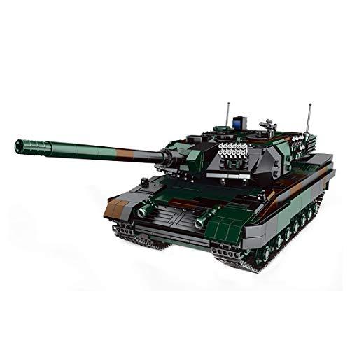 Oeasy Baustein Panzer Modell, Deutsche Leopard 2A6 Militär Panzer Bauset, 1346 Klemmbausteine Kompatibel mit Lego Technik