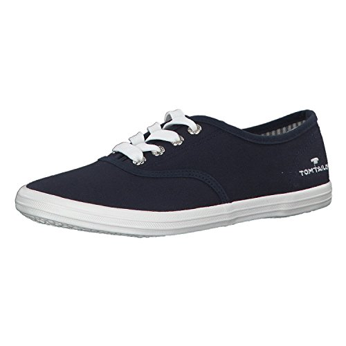 Tom Tailor Damen 4892401 Schlichter Sneaker, Blau (Navy), 38 EU