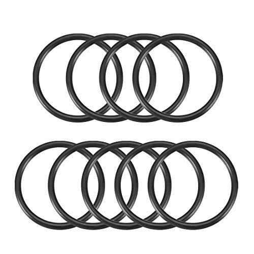sourcingmap La gomma 39mm x 33mm x 3mm di tenuta olio gli anelli o le ron per delle guarnizioni Nero 9 pz
