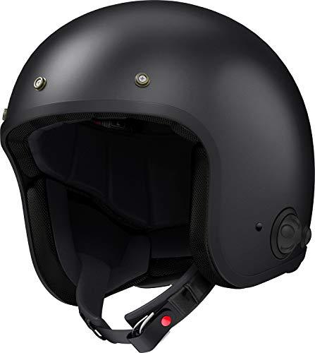 Sena Men's Open Face Helmet (Matte Black, Large)