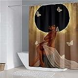 Sexy Mujeres Impreso Cortina De Ducha Poliéster Baño Bañera Pantalla Estera De Baño Set 4pcs Set Decoración De Inodoro