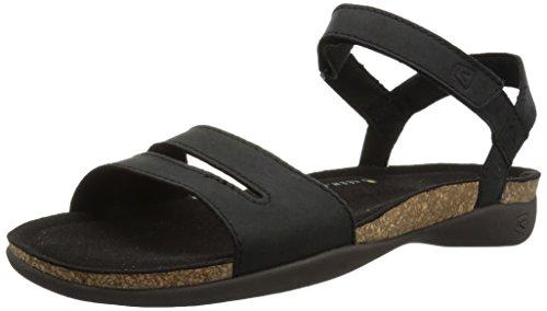 KEEN Women's ANA Cortez Sandal-W, Black/Black, 10 M US