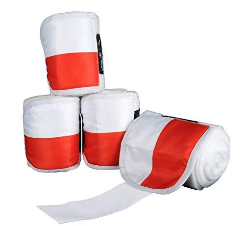HKM polarfleece bandages vlags, set van 4, 200 cm, Vlag Polen - 7908