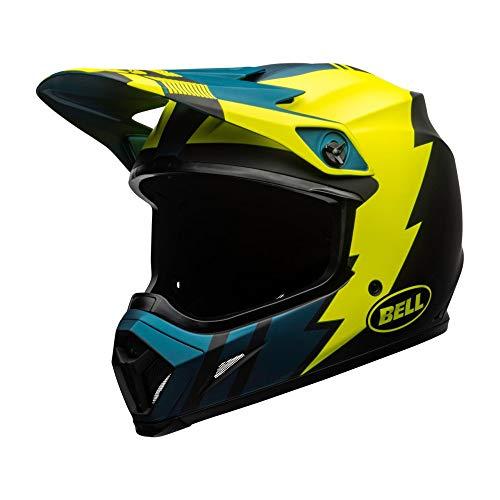 Motodak Helm Bell MX-9 MIPS Strike Matt Blue/Yellow Größe L