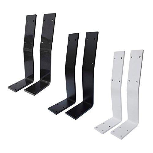 Rückenlehne Metall Rückenlehnen-Halterung für Sitz-Bank & Betten | Halterung zum Anschrauben | Stahl Rohstahl lackiert | Profil 60 x 8 mm | Möbelbeschläge (2 Stück transparent)