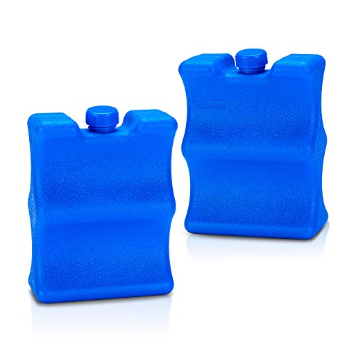YARWO Ice Packs for Breastmilk Storage (Pack of 2), Reusable Cooler Packs for Can Soda, Beer, Baby Bottles, Great for Camping, Beach, Picnic