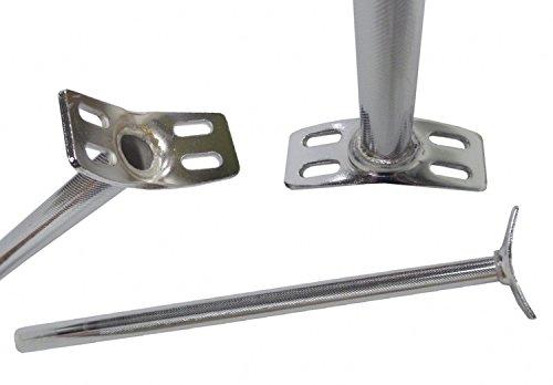 QU-AX Sattelstütze für Einrad 4-Loch-Version Zubehör, Silber, 222 x 400 mm