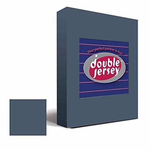 #20 Double Jersey Jersey Spannbettlaken, Spannbetttuch, Bettlaken, 160x200x30 cm, Anthrazit - 4