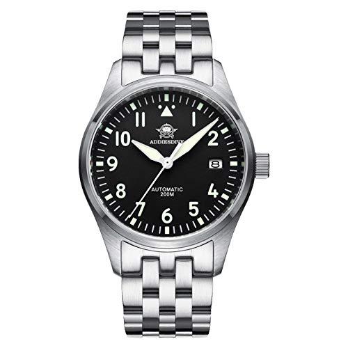 ADDIESDIVE herrenuhr markenuhr Flieger NH35A Automatische Uhr H2
