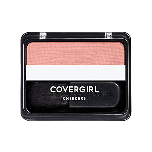 COVERGIRL Cheekers Blendable Powder Blush, Brick Rose 180, 0.12 ounce (Packaging May Vary), 1 Count