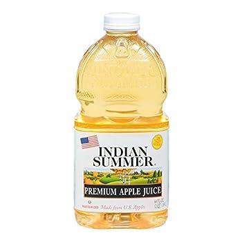 Indian Summer 100% Apple Juice 64 Fluid Ounce  Pack of 8