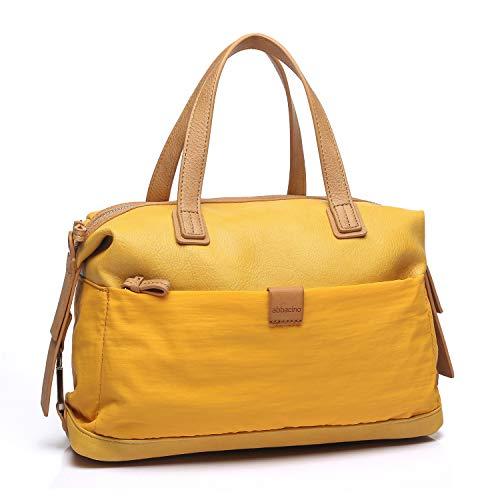 Abbacino bolso tipo bowling con bandolera y doble asa color amarillo