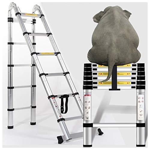 Escalera telescópica de aluminio de 12 pies/16 pies/22 pies – Sistema de retracción de un botón, escalera extensible mejorada: Amazon.es: Bricolaje y herramientas