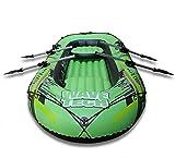 kayak fiume stella Progettato con PVC resistente alle forature per il comfort e la durata, e un pavimento a I-bar gonfiabile per la rigidità