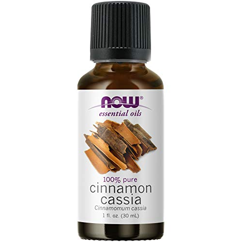 NOW Essential Oils, Cinnamon Cassia Oil, Warming Aromatherapy Scent, Steam Distilled, 100% Pure, Vegan, Child Resistant Cap, 1-Ounce