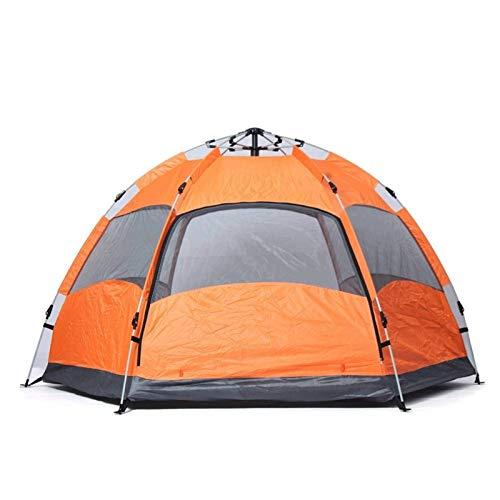 no-logo 3-4 Tiendas de campaña para Acampar Instant Setup Tent Doble Capa Impermeable para 4 Temporadas (Color : B)