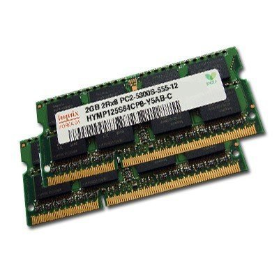 4GB Dual Channel Kit HYNIX original 2 x 2048MB 200 pin DDR2-667 (PC2-5300) SO-DIMM double side für DDR2 NOTEBOOKs