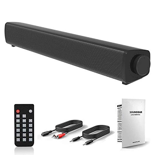 Sound Bars for TV, Portable Wired and Wireless Bluetooth 5.0 TV Stereo...