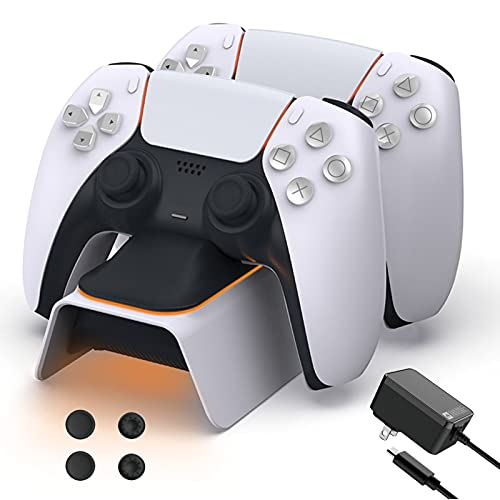 NexiGo Upgraded PS5 Controller Charger with Thumb Grip Kit  Only $25.49!
