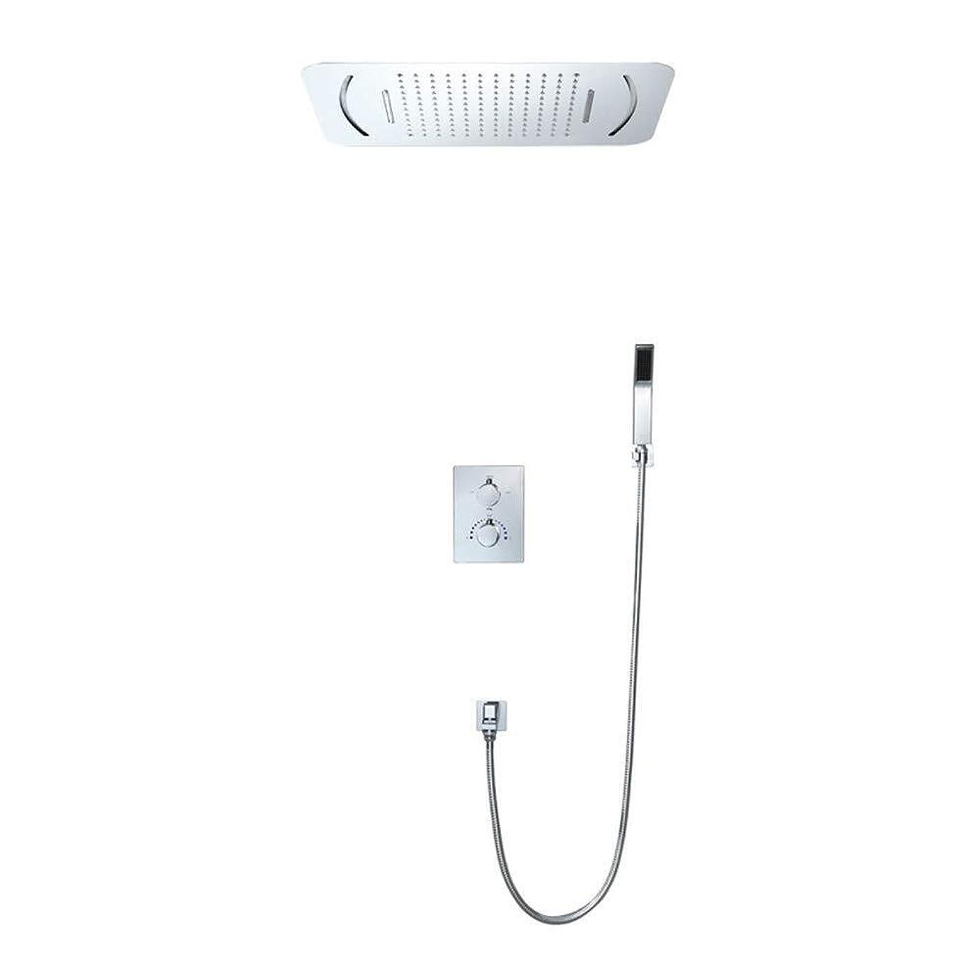 鮫徹底虫ZY-YY 3-機能で壁事前に埋め込まれたボックスLEDシャワートップは固定シャワーヘッドをスプレーサーモスタット隠されたシャワー