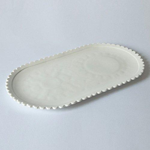 SELETTI 'Plateau Ovale en Porcelaine Machine Collection cm.45 x 25,6 h.2,6