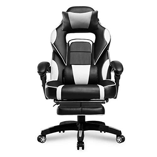 La Silla giratoria Game E-Sports, Respaldo reclinable de 90 ° -175 °, se Puede Subir y Bajar para Usar en el Dormitorio de Estudio de la Oficina