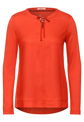 Cecil Damen Mat-Mix Bluse Funky orange L