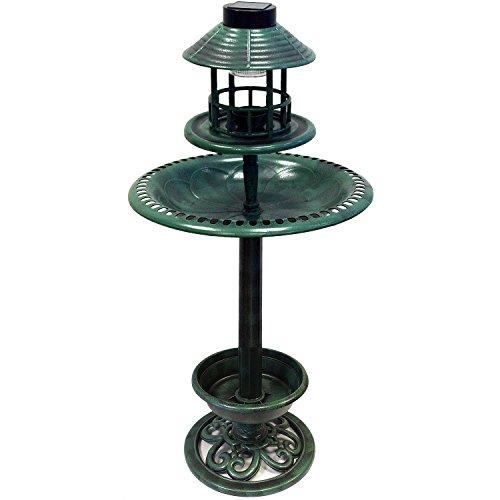 110cm Outdoor Vogel Brunnen Tränke hotel solar licht LED ArtNr. 29177