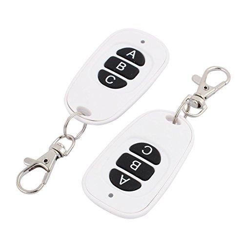 Aexit 2Pcs 433Mhz Wasserdichte weiße drahtlose Fernbedienung 3 Schlüssel für elektrische Tür (f8ff8191b95253fefe226941217d856a)