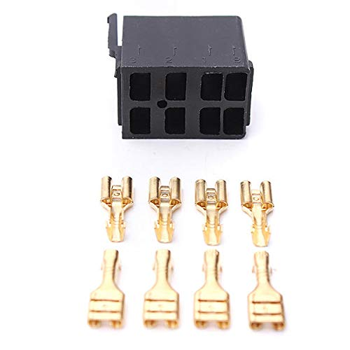 Lanrui 8 PCS Terminales De Pala Femenina Y Interruptor De Balancín ARB Enchufe Socket Carling