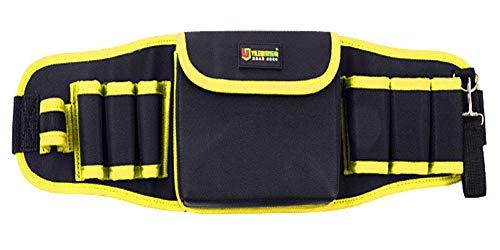 防水 工具腰袋 ウエスト ポーチ 電工用 ベルト調節可能 工具差し 大容量 多機能 道具袋 ドライバー レンチ ツールバッグ 作業用 (黄)