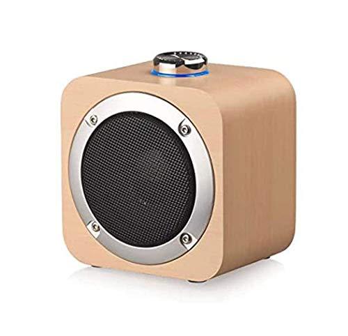 ZOUSHUAIDEDIAN Altavoz portátil Bluetooth, altavoces de madera, sonido estéreo claro, bajo, altavoz inalámbrico, rango de bluetooth 10M, muy adecuado para familia, al aire libre, fiesta, viajes, marró