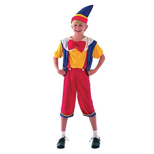 Pinocho - Niños Disfraz - Medium - 122 a 134cm