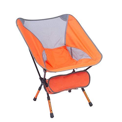 WPCBAA Chaise Pliante extérieure Ultra légère Chaise de pêche Portable Art Croquis Chaise de Camping de Plage en Aluminium (Couleur : Orange)