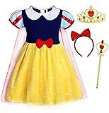 AmzBarley Prinzessin Schneewittchen Kostüm Kinder Mädchen Kleid Verkleidung Schick Party Kleider...