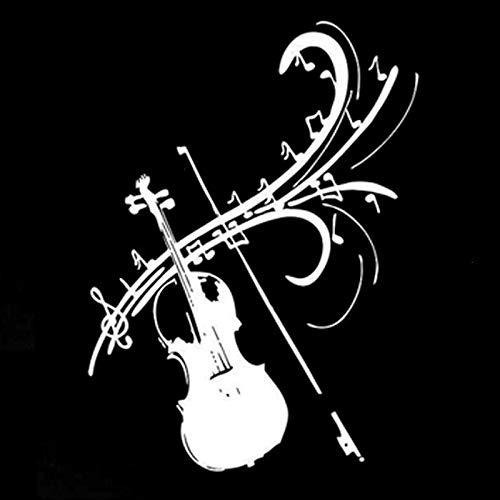 2 Stück, Karosserie dekorative Reflektor Stick Karosserie Aufkleber Vinyl Aufkleber, Autofenster Aufkleber, Mode Violine Musik Symbol für LKWs, Fenster, Wände, Laptops und andere Sachen, Stoßstange