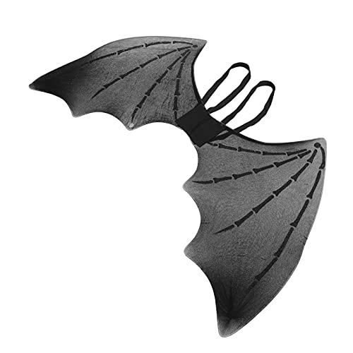 STOBOK Disfraz de Halloween alas de murciélago gótico negro alas de murciélago Cosplay alas simuladas accesorios de disfraz de Halloween negro
