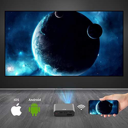 Artlii Mana, Mini Proyector Portátil WiFi 3D Móvil, Batería Recargable, DLP Proyector Móvil Pequeño, para Smartphone / iPhone / Android