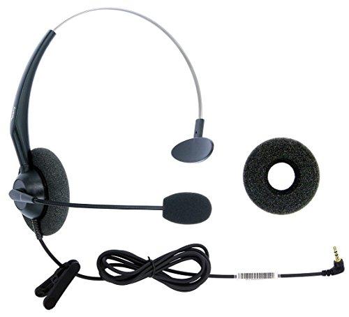 2.5 mm Jack Hands Free Headset Over Ear Headphones for Cordless Home Phones Corded Landline Telephones