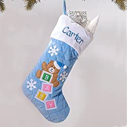 baby's first christmas traditions personalized stocking