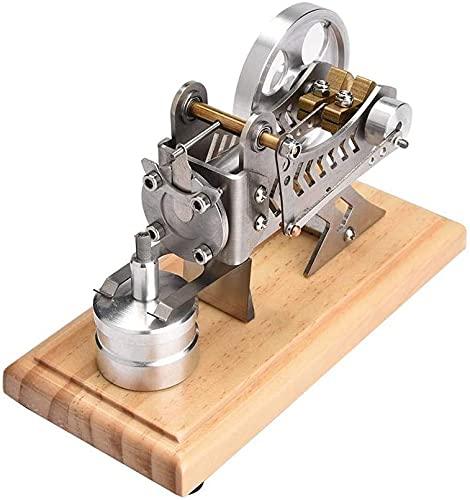 SYGoodBUY LED Air Stirling Engine Educación Divertida Electricidad Generador de Energía Modelo Educación Modelo Kit de Juguete