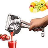 Manual Juicers,Stainless Steel Manual Fruit Juicer Portable Fruit Press Lemon Orange Squeezer Fruit Hand Squeezer Fruit Juicer Citrus Extractor Tool