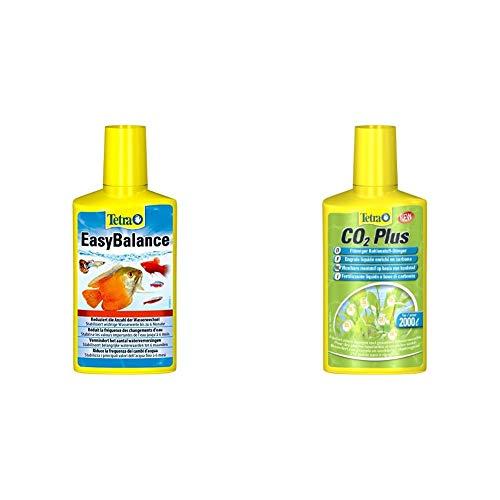 Tetra EasyBalance, Langzeitpflege für biologisch gesundes Aquariumwasser, 250 ml Flasche & CO2 Plus flüssiger Kohlenstoff-Dünger für prächtige Aquarienpflanzen, 250 ml Flasche
