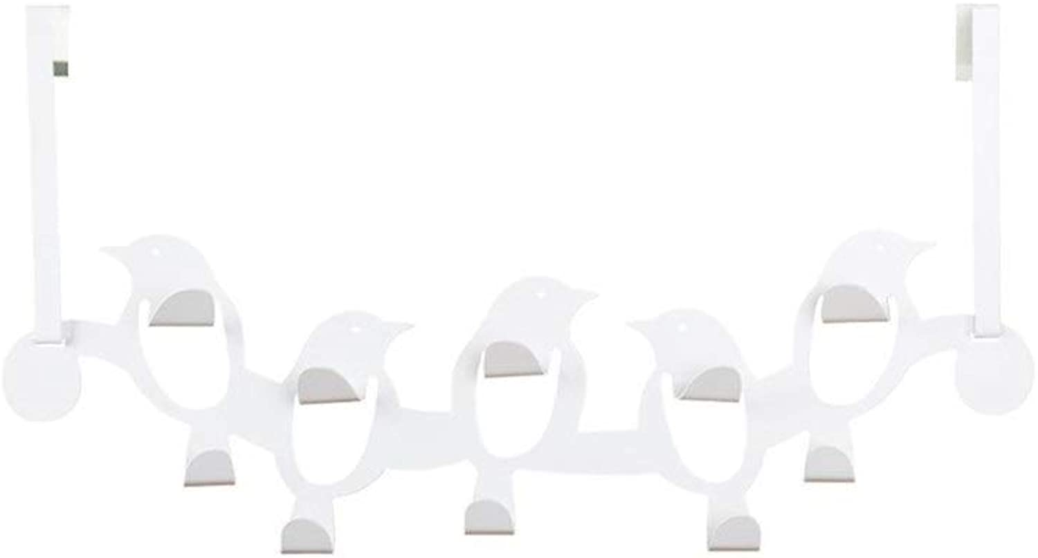 Hanging Behind The Door, Hook Behind The Door, Hook On The Back of The Door, Suitable for The Back of The Door, Office (White) (color   White)