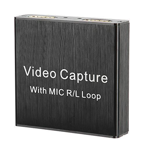 Dilwe Tarjeta de Captura de Audio y Video, HDMI USB2.0 4K 1080P 30fps Dispositivo de Captura de Juegos, Convertidor de Video portátil para Juegos, Streaming, Videoconferencia, Transmisión en Vivo ✅