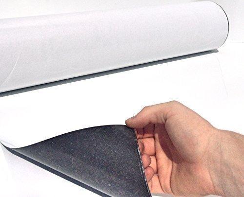 Folio de Hierro - Láminas Ferro Blanco Mate Autoadhesivo 620mm X 3000mm X 0,6mm Autoadhesivo - Capa Adhesiva para Imán - Lámina Magnética - Pizarra Blanca Flexible