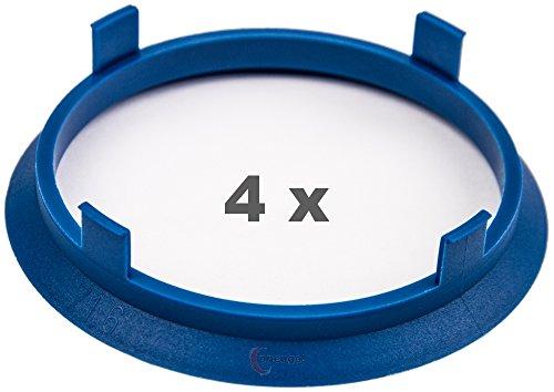 4 x pneugo! Bagues de centrage pour jantes alu 71.6 mm - 66.6 mm
