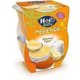 Hero Baby Merienda Puré de Plátano con Yogur para Bebés a partir de 6 meses Pack de 2 x 130 g